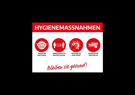 Hygienehinweise Plakate